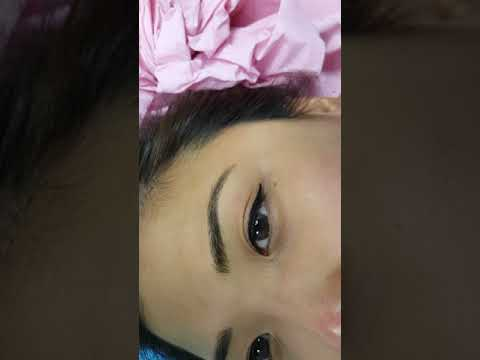 Oriental Realism Eyebrows Microblading + Cat wing Eyeliner by El Truchan @ Perfect Definition