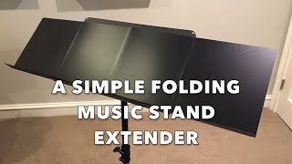 "Keep a music-stand extender in your music folder! The ""Folder-Mate"" music-stand extender is easy to make yourself. This is a ..."