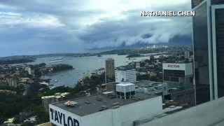 Amazing video of 'Cloud Tsunami' rolling in over Sydney