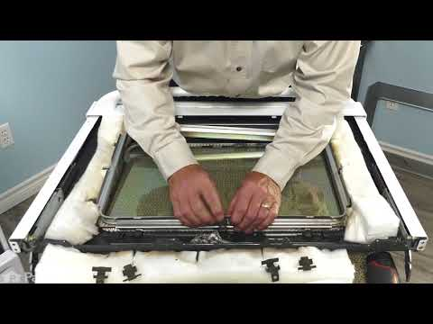 GE Range/Stove/Oven Repair – How to Replace the Oven Door Glass
