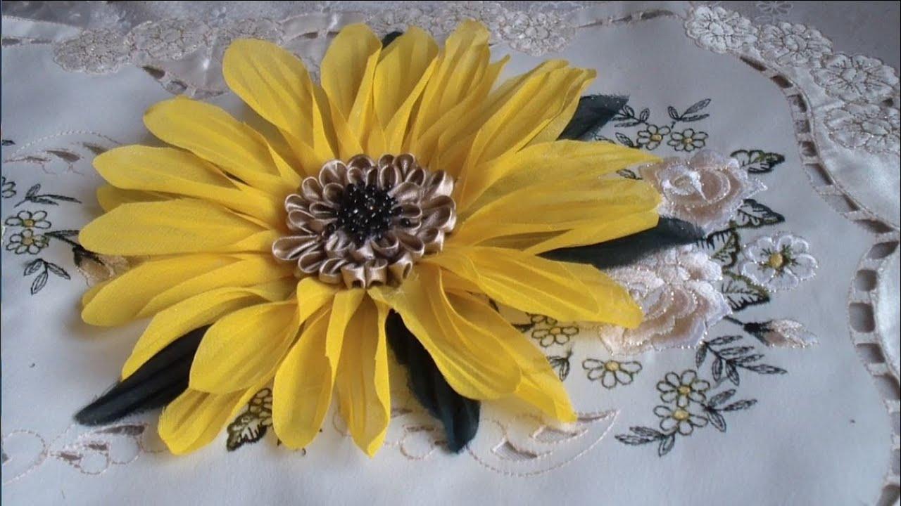 Как сделать цветок подсолнух