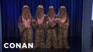 Chewbaccapella Performs On CONAN  - CONAN on TBS
