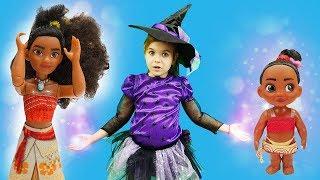 Моана стала маленькой. Волшебница - Ведьмочка Юлли - Мультики для девочек