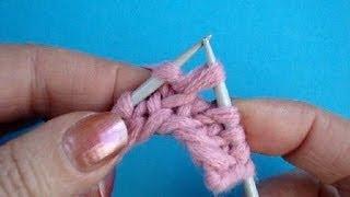 Вязание на спицах Урок32 Скрещенная лицевая петля Knitting lesson for beginners(Вязания спицами скрещенной лицевой петли за переднюю стенку петли Подписаться на все новые видео-уроки..., 2013-09-20T06:26:18.000Z)