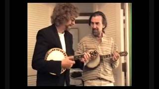 Jeff Lynne George Harrison play banjos