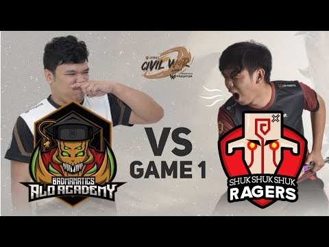 Shukshukshuk Ragers vs Badmanatics.AloAcademy Game 1 (Bo3) | Lupon Civil War Season 3