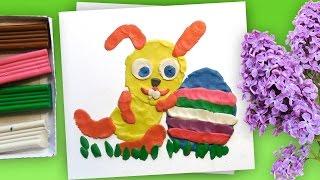 Пасхальный Кролик из Пластилина | Развивающее занятие для детей | Урок лепки