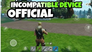 HOW TO DOWNLOAD FORTNITE  INCAMPATIBLE   DEVICES