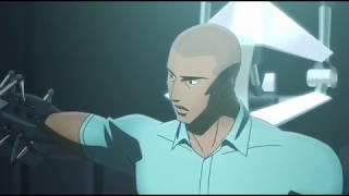 Люк Фокс надевает броню Бэтвинга (Бэтмен: Дурная кровь 2016)