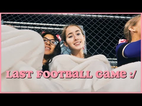 VLOG: CHEERING AT OUR LAST FOOTBALL GAME & HALLOWEEN PARTY
