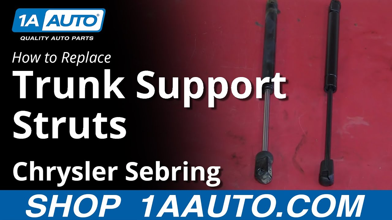 How To Install Replace Fix Sagging Trunk Lid Support