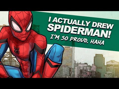 I ACTUALLY drew SPIDERMAN! OMG | S is for SPIDERMAN! | DrawingWiffWaffles