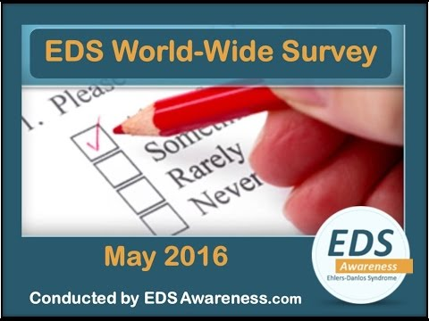 "John Ferman and Deanna Hamm present the ""Results of the EDS Awareness World Wide Survey"""