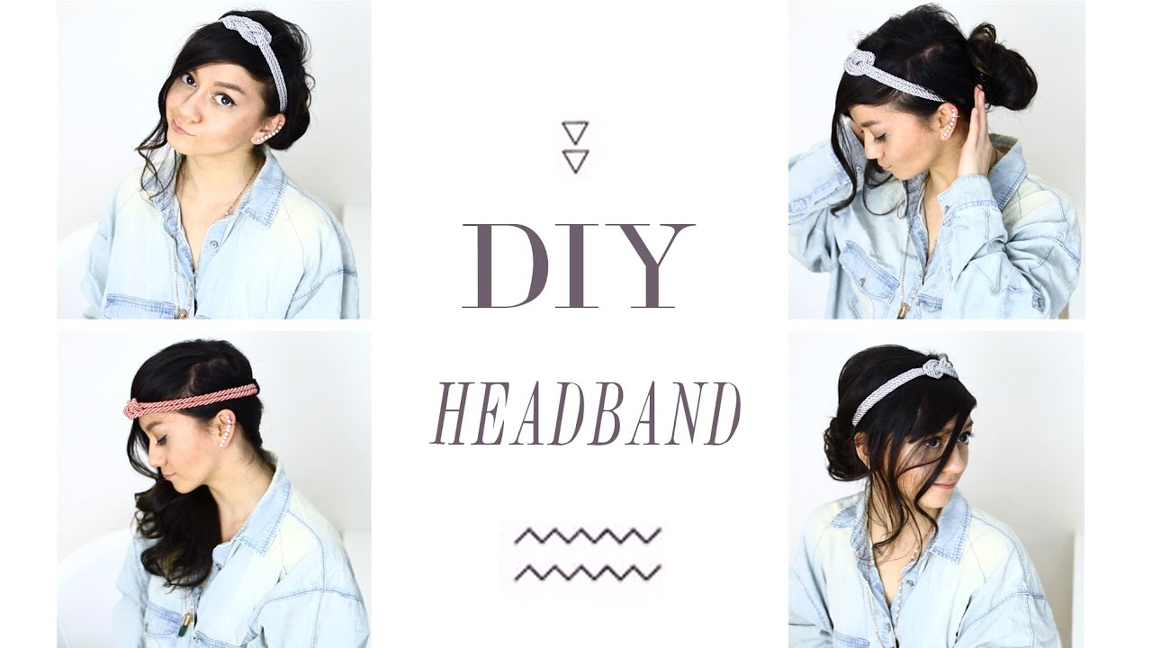 diy haarband selber machen headband haarschmuck. Black Bedroom Furniture Sets. Home Design Ideas