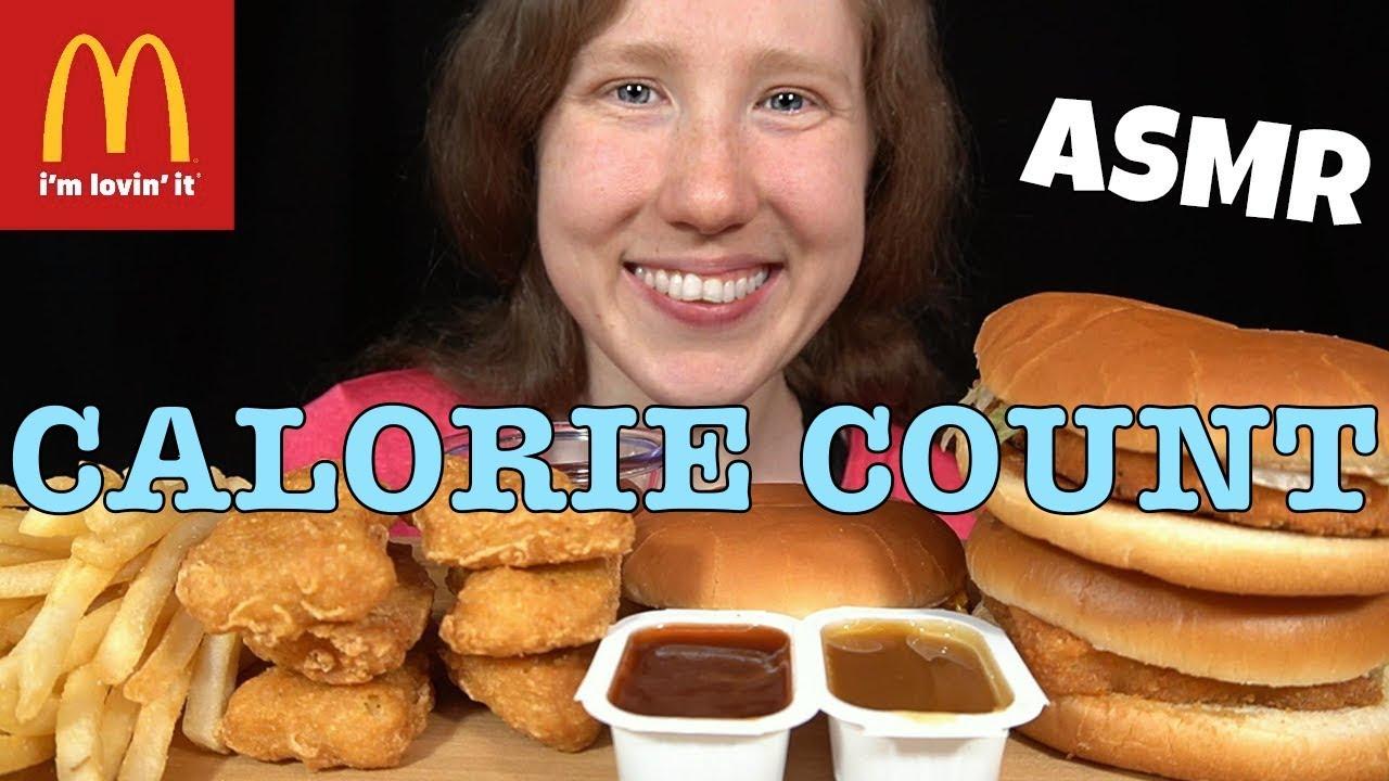 "Calorie Count - SongByrd ""ASMR McDONALD'S FEAST MUKBANG Mega Collab! REAL EATING SOUNDS"""