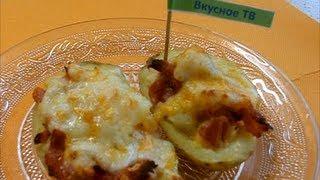 Картофель запеченный с ветчиной и сыром