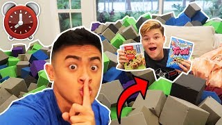 Gambar cover 24 HOUR OVERNIGHT CHALLENGE IN A FOAM PIT! *LOST PHONE*