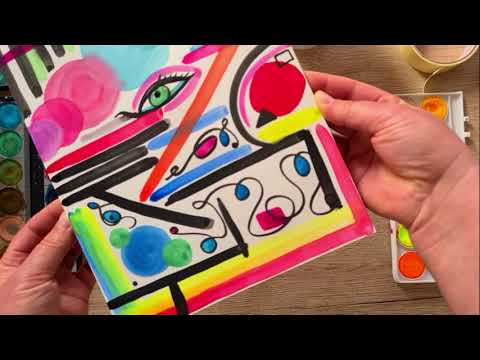 Intuitive Watercolors Painting – Stress Relief – Soft Music/ Nature Sounds #watercolors #painting