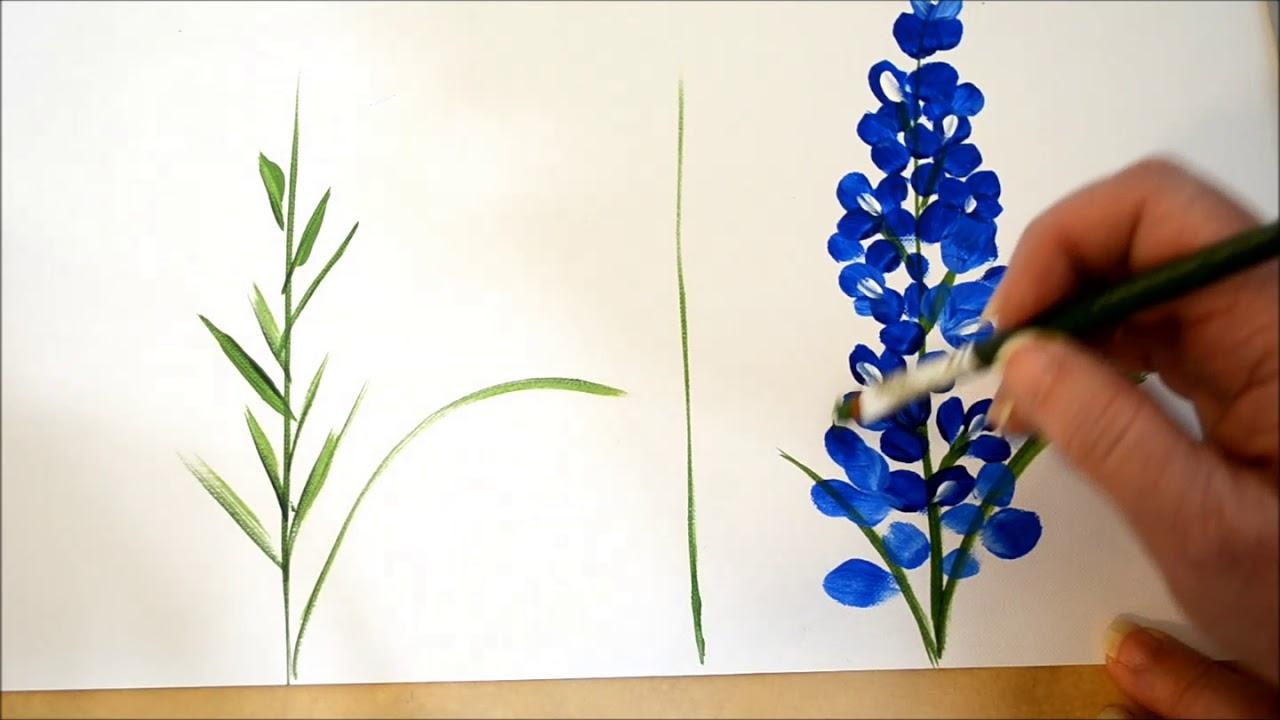 Paint Texas Bluebonnets YouTube