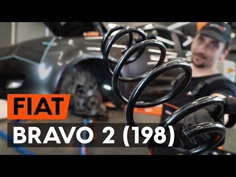 Как заменить переднюю пружину стойки амортизатора наFIAT BRAVO 2 (198) [ВИДЕОУРОК AUTODOC]