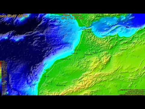 Rabat, Morocco, (z+c) sea level rise -135 - 65 m