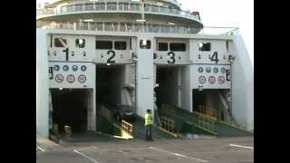 Loading Of Cars On The Ferry Vessel