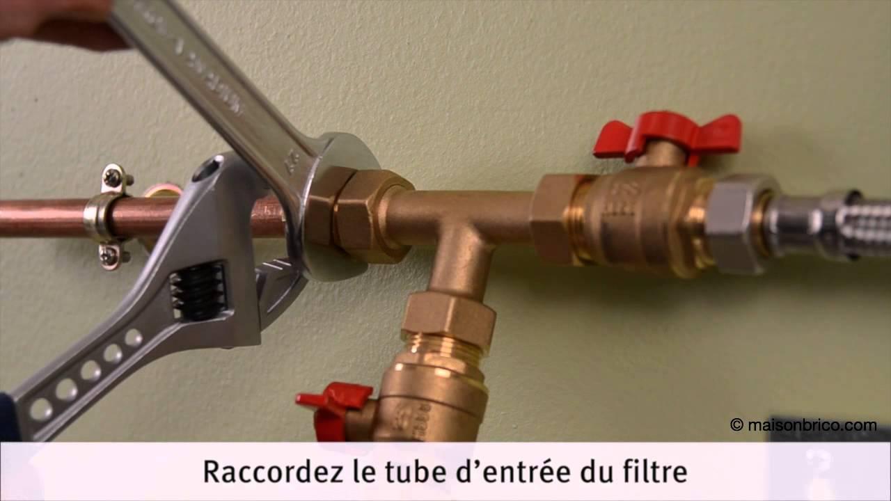 poser un filtre adoucisseur d eau