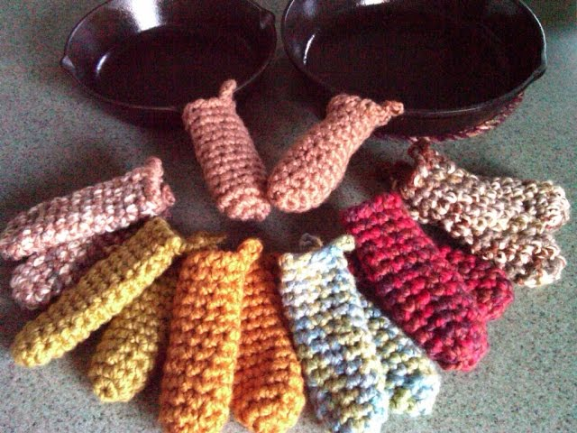 Spring Colored Crocheted Pot Handle Cover