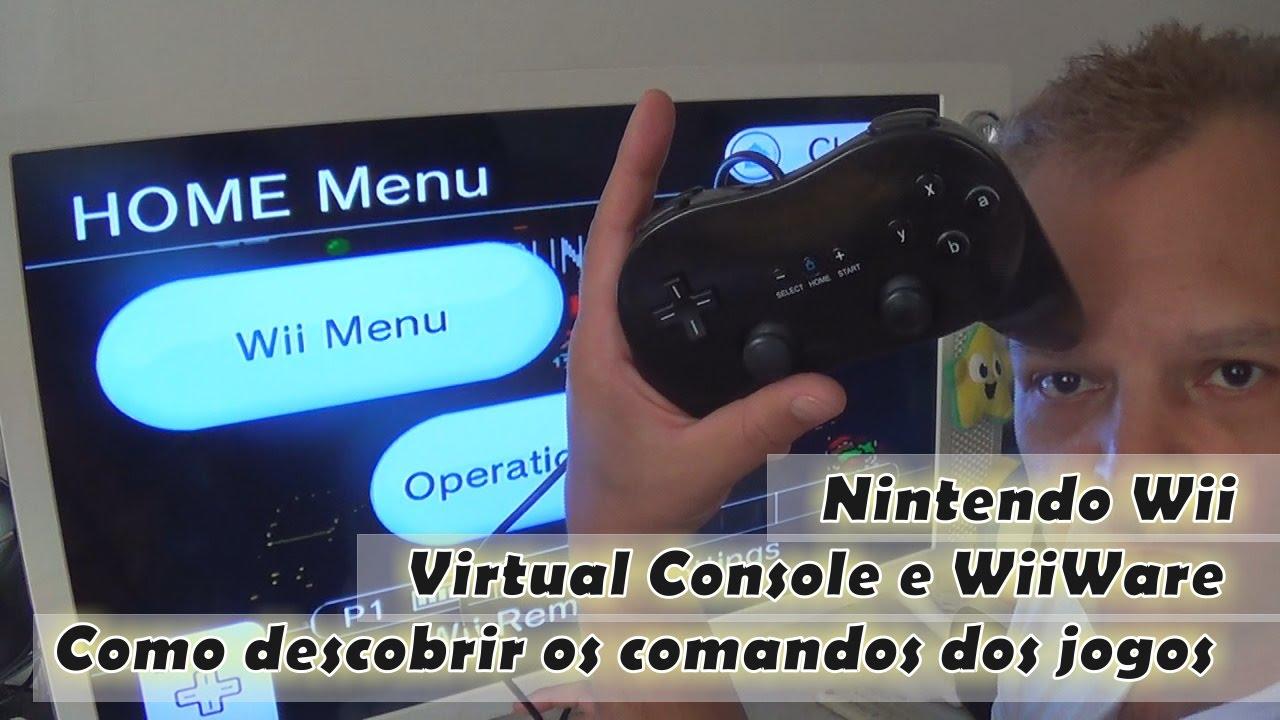Nintendo Wii: Virtual Console e WiiWare - Como descobrir os comandos on