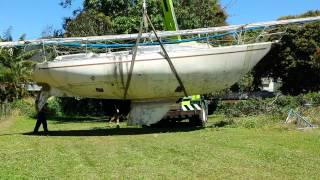 The New Boat. Mottle 33. Victim Of Cyclone Yazi.