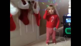 Cute Small girl singing one direction song.....very funny