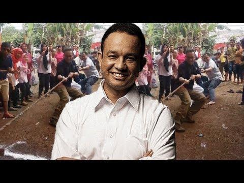 Momen Kocak Sekaligus 'Memalukan' Anies Baswedan saat Ikut Lomba Tarik Tambang!