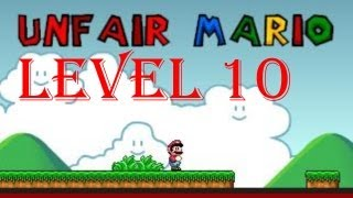 Unfair Mario all levels walkthrough/playthrough - Level 10