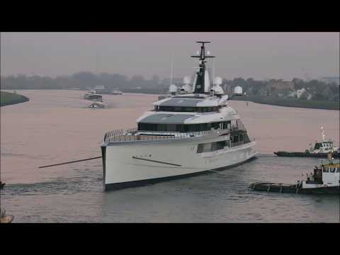 "The launch video of Oceanco's 109m/ 357'7"" Project Bravo of today"