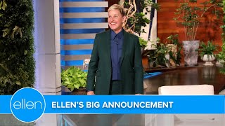 Ellen's Big Season 19 Announcement