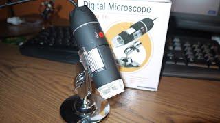 Testing 1600X USB microscope..…
