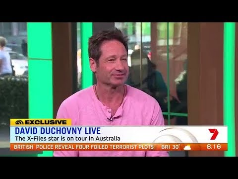 David Duchovny playing Mulder for 25 years and his current tour of Australia!