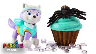 Best Learning Videos for Kids Learn Shapes with Paw Patrol Cupcakes Sprinkles & Icing Toy Movie!