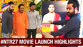 NTR 27 Movie Launch Highlights | Jr NTR New Movie JAI LAVA KUSA Opening | Raashi | #NTR27Launch