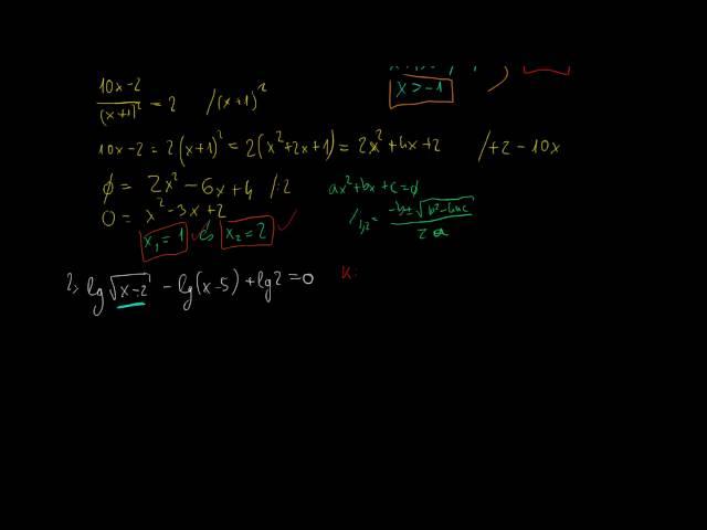 Logaritmikus egyenletek és egyenlőtlenségek 3