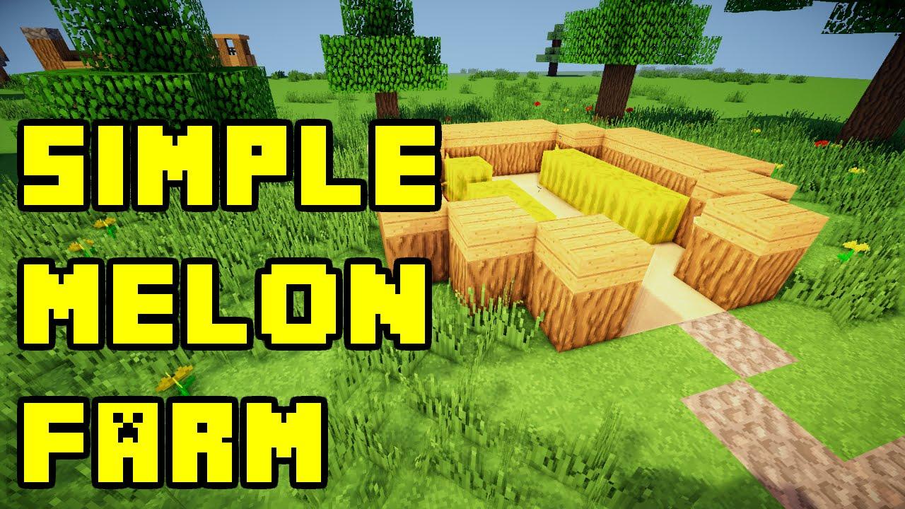 Minecraft Simple Melon Farm Design Tutorial Xbox PC PE PS3