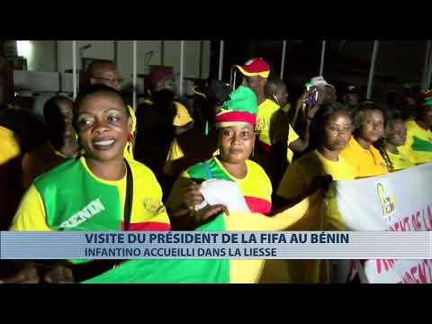 Le président de la FIFA, Gianni Infantino en visite de travail au Bénin