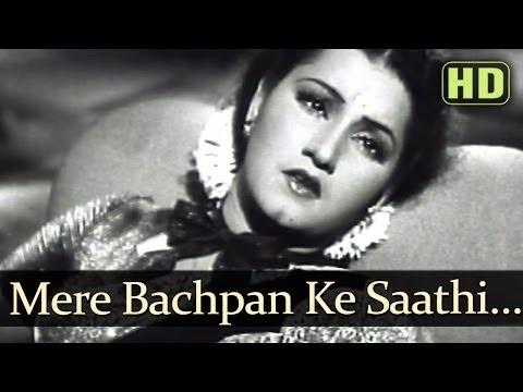 Mere Bachpan Ke Saathi (HD) - Anmol Ghadi Songs - Surendra - Noor Jehan