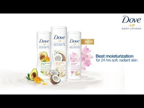 New Nature Inspired Dove Body Lotions Youtube