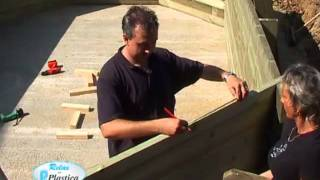 How to install a Wooden Pool Part 5/13 - Wooden Ladder - DIY