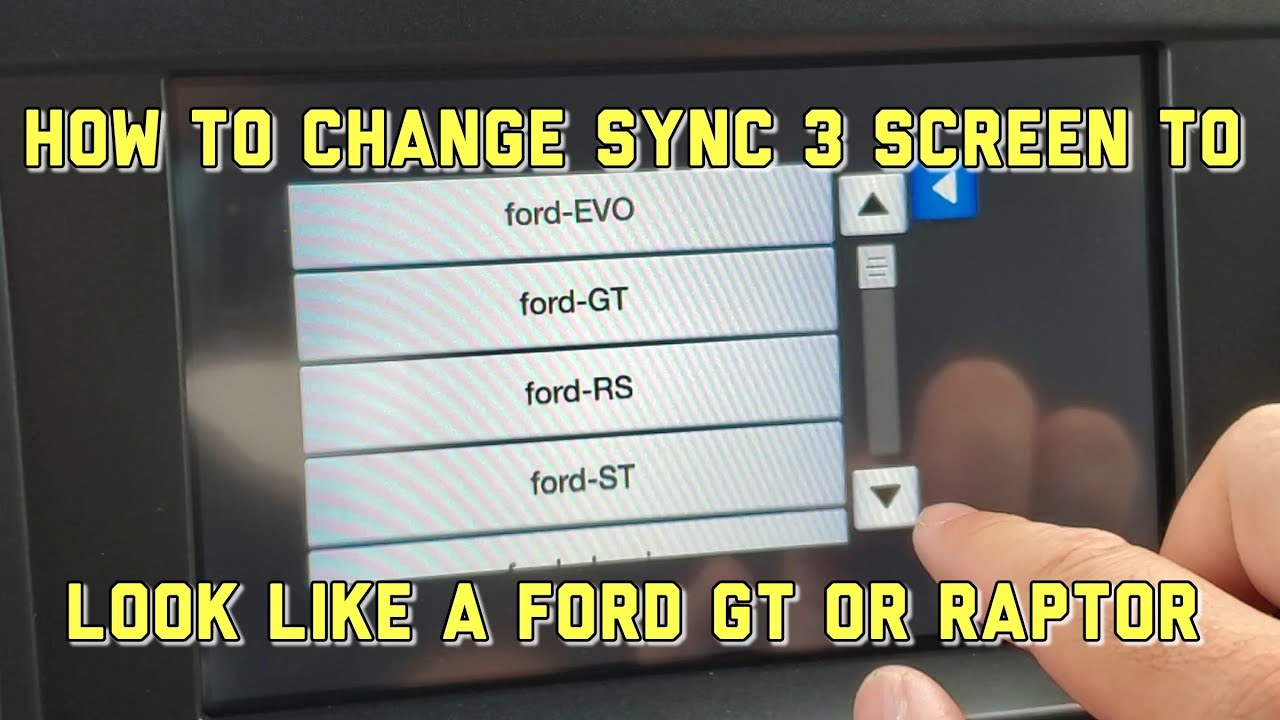 How to change your Ford Sync 3 display theme