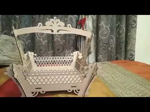 Laser cut wooden basket by ShubhSaugat