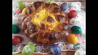 Пасхальный хлеб Паска Хлеб с творогом Pască Pîine de Paşte