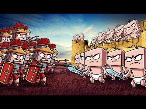 Minecraft | Roman Empire vs. Baby Army! (Massive Mob Battles)