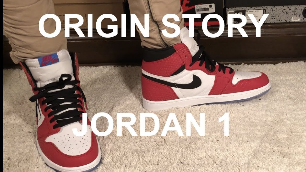 6c36a888db85 ORIGIN STORY  SPIDER MAN JORDAN 1 ONFOOT REVIEW UNBOXING - YouTube